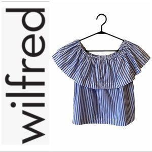 Aritzia Wilfred off-shoulder top
